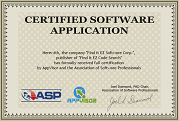 Association of Software Professionals Certified Application